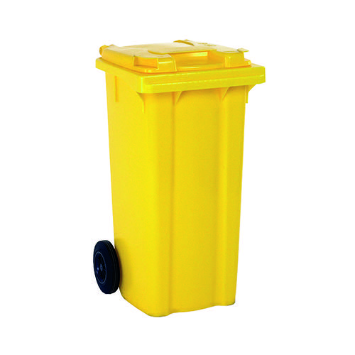 Wheelie Bin 240 Litre Yellow (W580 x D740 x H1070mm) 331193