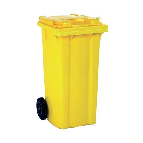 Wheelie Bin 80 Litre Yellow (W445 x D525 x H930mm) 331275