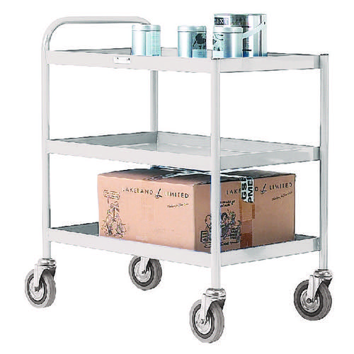 3 Tier Grey General Purpose Trolley 331492