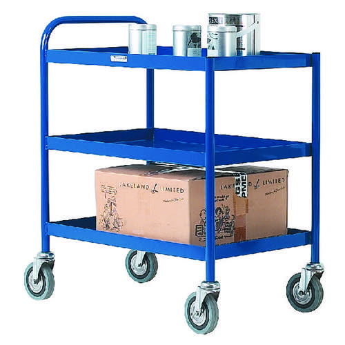 3 Tier Blue General Purpose Trolley 331493