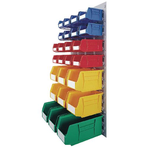 VFM Coloured Wall Mounted Storage Bin Unit (Comes with 25 multicoloured bins) 331569
