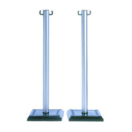 VFM Grey/Black PVC Barrier Post (Pack of 2) 349735