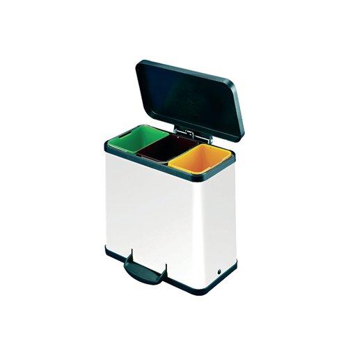 Trento Oko 3X9L Recycling Bin White 357453