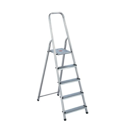Aluminium Step Ladder 5 Step (Platform sits 980mm Above the Floor) 405007