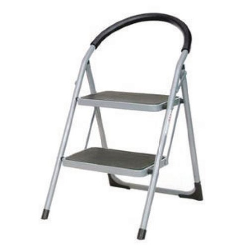 White 2 Tread Step Ladder (100kg Capacity Height to top step: 490mm) 359293
