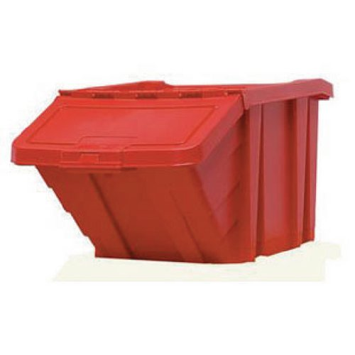 Heavy Duty Storage Bin With Lid Red 359519