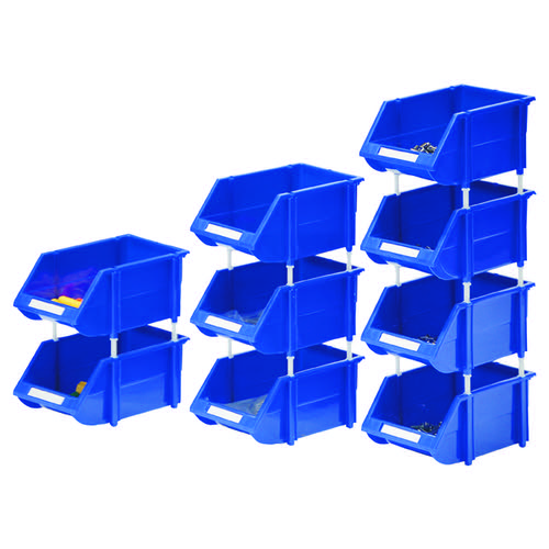 VFM Blue Heavy Duty Storage Bin (Pack of 12) 360235