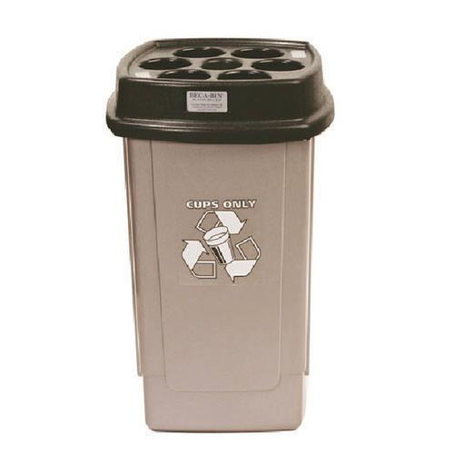 Disposable Cup Bin Black /Silver 367050