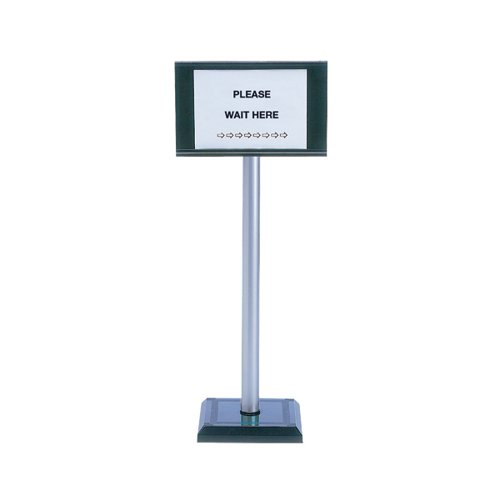 Pvc Post 110cm With Sign A4 Holder 370445