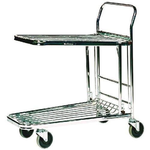 Stock Trolley Metallic Grey 300kg Capacity (W460 x D865 x H980mm) 373227