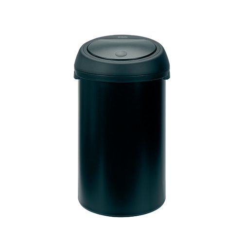 Touch Top Waste Bin 60 Litre Black 374038