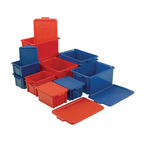 Maxi Storemaster Crate/Lid Blue 374342