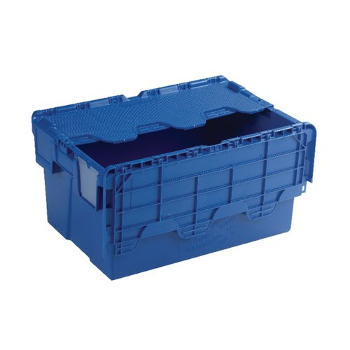 Attached Lid Container 54L Blue 375815