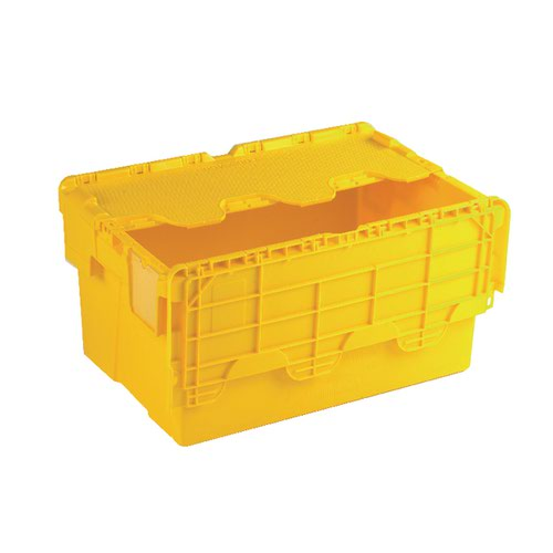 Attached Lid Container 54L Yellow 375817