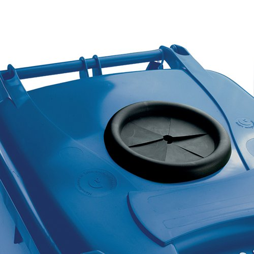 Wheelie Bin With Bottle Bank Aperture 240 Litre Blue 377866