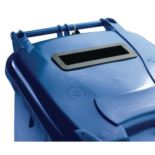 Blue Confidential Waste Wheelie Bin 120 Litre With Slot and Lid Lock 377884