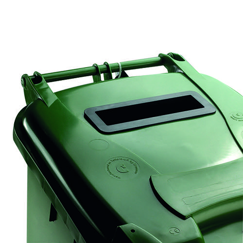 Confidential Waste Wheelie Bin 360 Litre Green 377917