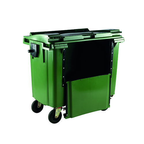 Wheelie Bin With Drop Down Front 770 Litre Green 377966