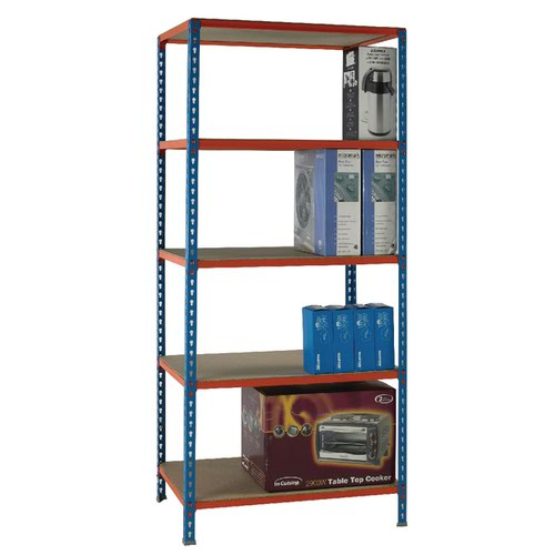 Standard Duty Painted Orange Shelf Unit Blue 378966