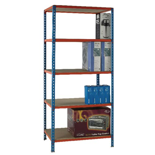 Standard Duty Painted Orange Shelf Unit Blue 378970