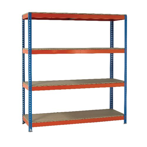 VFM Orange/Zinc Heavy Duty Painted Shelving Unit 379051