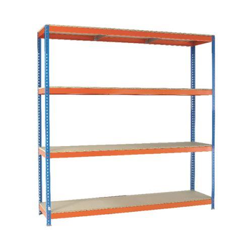 VFM Orange/Zinc Heavy Duty Painted Shelving Unit 379235
