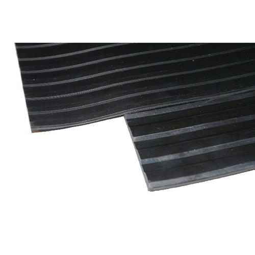 Broad Ribbed Matting 3mm 900mm X1 Linear Metre Black 379271