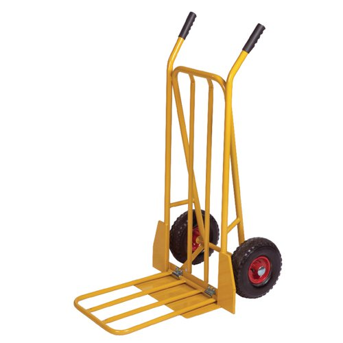 Yellow General Purpose Sack Truck With Folding Footplate 382848