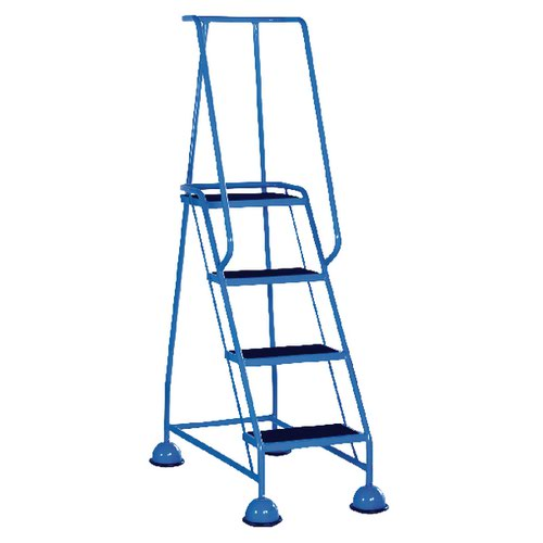 Light Blue 4 Tread Step Ladder (Load capacity: 125kg) 385138