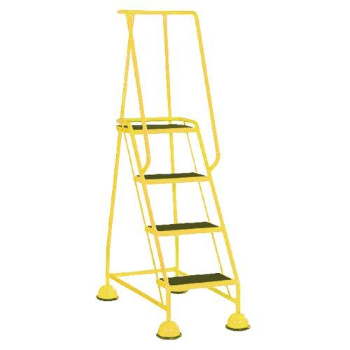 Yellow 4 Tread Step Ladder (Load capacity: 125kg) 385141
