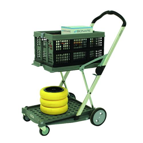 Clax Folding Trolley with Folding Box Grey 413614