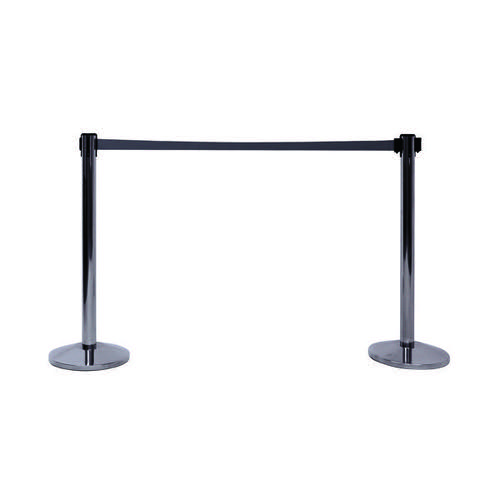 VFM Barriers with 3.4m Belt Chrome (Pack of 2) 421935