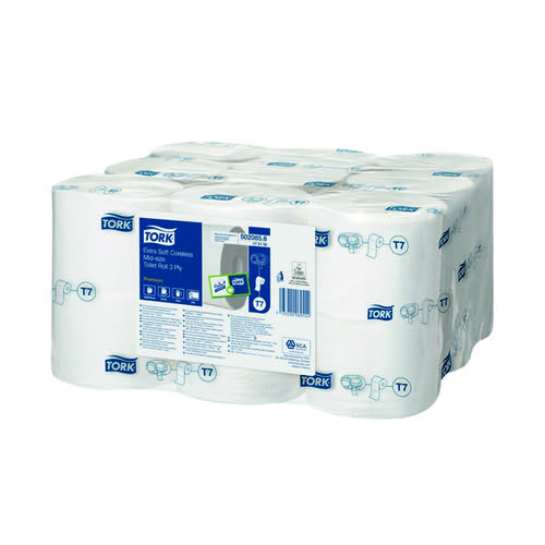 Tork Extra Soft Coreless 3-Ply Premium Toilet Roll (Pack of 18) 472139
