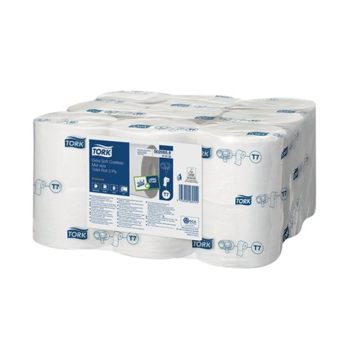 Tork Extra Soft Coreless 3-Ply Premium Toilet Roll (Pack of 18) 472139 by Essity Hygiene and Health AB, SCA06055
