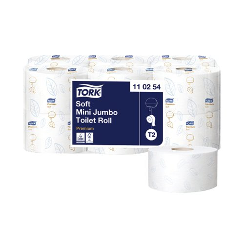 Tork T2 System Mini Jumbo Roll 2-Ply 850 Sheets (Pack of 12) 110254
