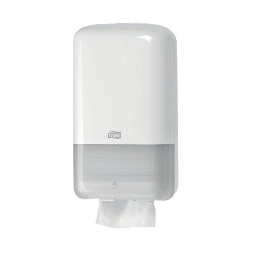 Tork T3 Folded Toilet Tissue Dispenser White 556000 SCA35482