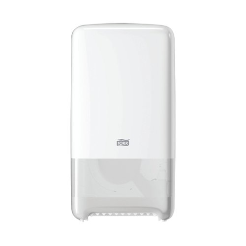 Tork T6 Twin Mid-Size Toilet Roll Dispenser White 557500