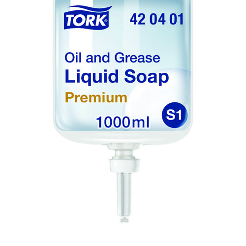 Tork Oil And Grease Liquid Soap 1 Litre (Pack of 6) 420401