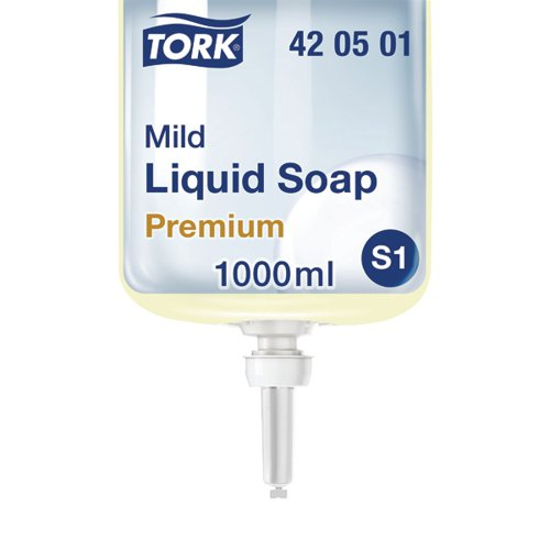 Tork Mild Liquid Hand Soap Refill S1 1 Litre (Pack of 6) 420501