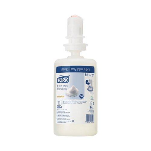 Tork Extra Mild Foam Hand Soap S4 Refill 1 Litre (Pack of 6) 520701