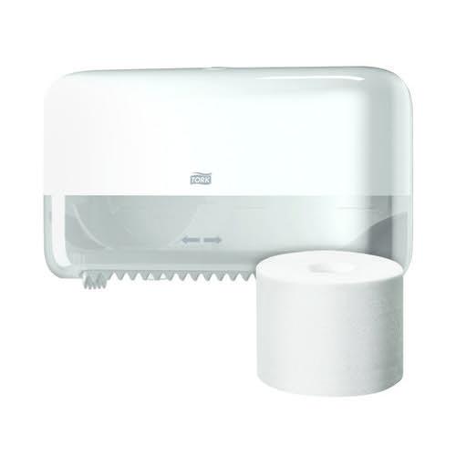 Tork Toilet Roll 2-Ply White (Pack of 36) Buy 1 Pack Get FOC Mid-Size Dispenser