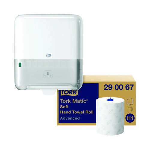 Tork Matic Hand Towel H1 White 150m (Pack of 6) Buy 1 Pack Get FOC Dispenser