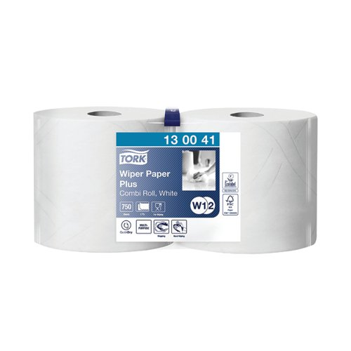 Tork Giant Centrefeed Roll 2-Ply 255m White (Pack of 2) 130041