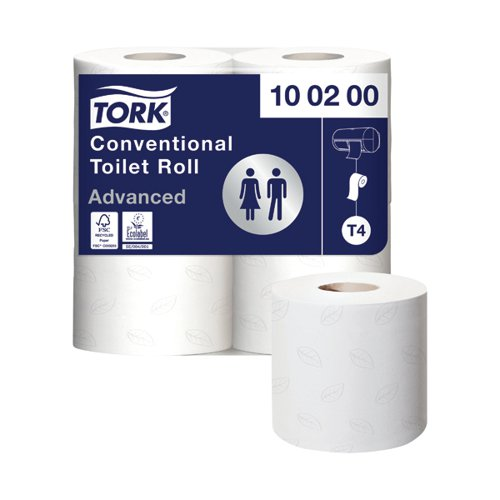 Tork Conventional Toilet Roll 2-Ply 200 Sheets (Pack of 36) 472150