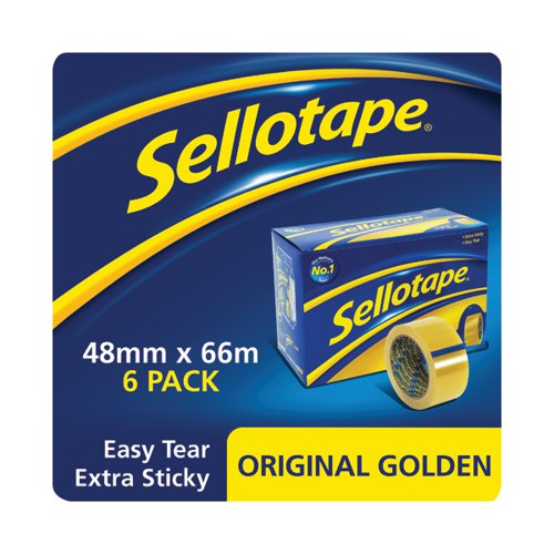 Sellotape Original Golden Tape 48mmx66m (Pack of 6) 1443304