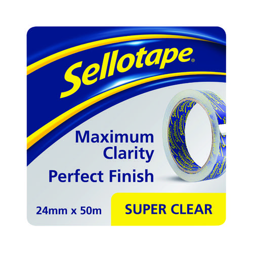 Sellotape Super Clear Tape 24mmx50m (Pack of 6) 1569087