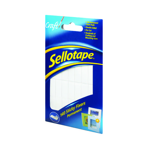 Sellotape Sticky Fixers Permanent 12x25mm (Pack of 140) 1445422