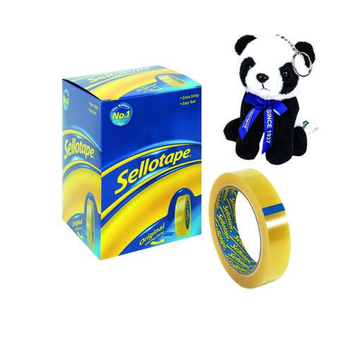 Sellotape Original Golden Tape 24mmx66m (Pack of 6) 1443306