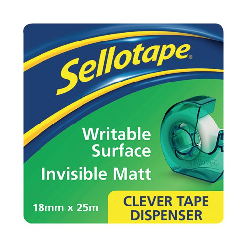 Sellotape Clever Tape and Dispenser 18mmx25m (Pack of 7) 1766004