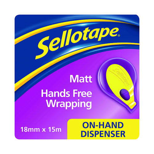 Sellotape On-Hand Dispenser with Tape 18mm x 15m 2379004